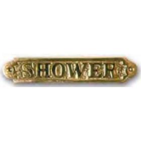 FS Plaque laiton shower