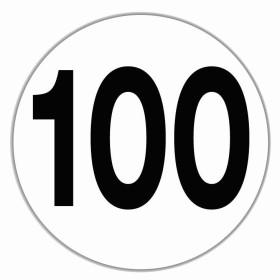 LILIE Disque limitation vitesse 100 km/h