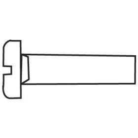 EUROMARINE Vis métaux + écrou ø 8 mm inox T.C Fendue