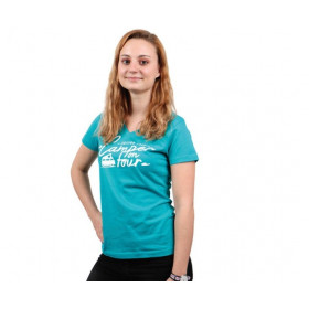 HT T-shirt femme bleu caraïbes
