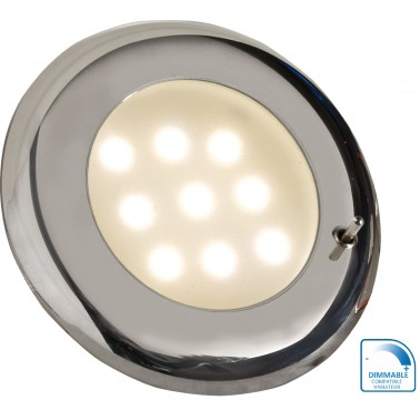 BATSYSTEM Spot encastrable à LED chromé