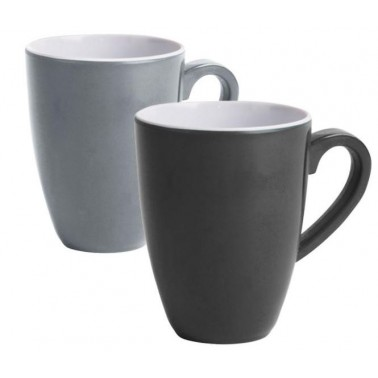 CAMP4 Lot 2 tasses grise & anthracite
