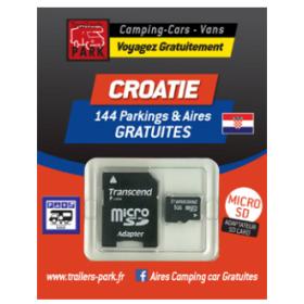 TRAILERS PARK Carte SD Croatie aires gratuites camping-car