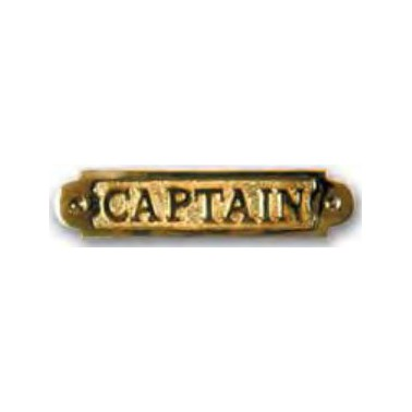 FS Plaque laiton captain