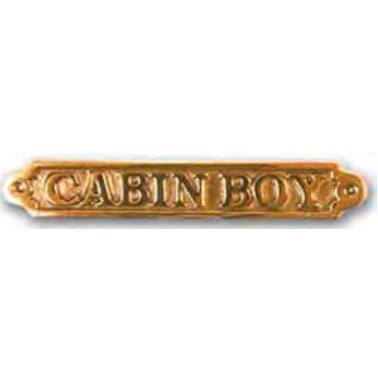 FS Plaque laiton cabin boy